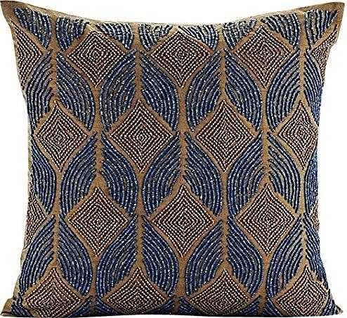 The 現品 HomeCentric Decorative Blue European Shams 65x65 全店販売中 26x26 inch