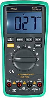 Festnight Multi-funcional LCD portátil Digital NCV Verdadero multímetro RMS con detector de temperatura DC