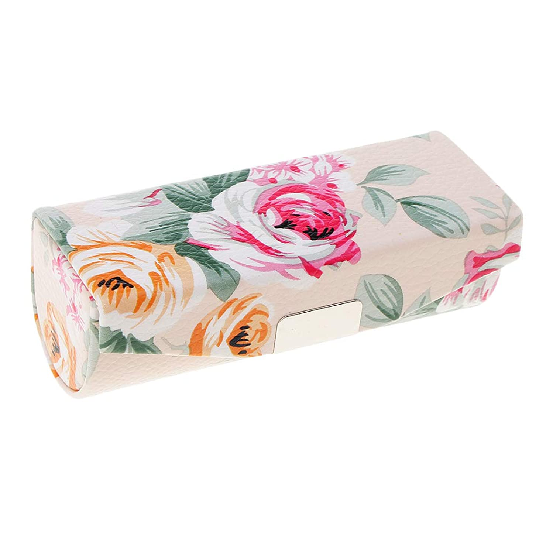 ピアノを弾く挨拶家事T TOOYFUL ミラー付き口紅ケース、財布のための旅行サイズ、女性&女性のためのキャリングバッグ - ベージュ