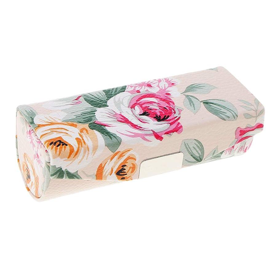 テナント変数彫るT TOOYFUL ミラー付き口紅ケース、財布のための旅行サイズ、女性&女性のためのキャリングバッグ - ベージュ