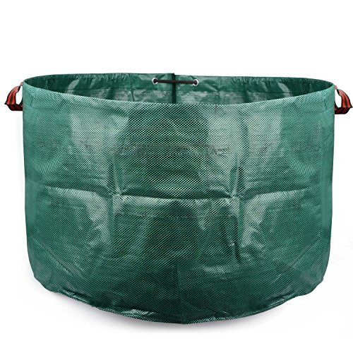 Xnferty 1Pack Lawn and Leaf Bags, 63 Gallons Reusable Waste Bag Portable Collapsible Reuseable Yard Garden Bag