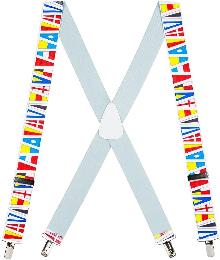 SuspenderStore Men's Nautical Flag Suspenders
