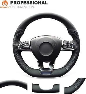 Funda para volante de coche de piel sint/ética cosida a mano para Volkswagen Crafter para Mercedes Benz W639 para Viano Vito