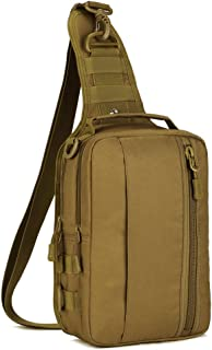 Tactical Pouches Military Sling Chest Pack Molle Daypack Crossbody Duty Gear Shoulder Bag
