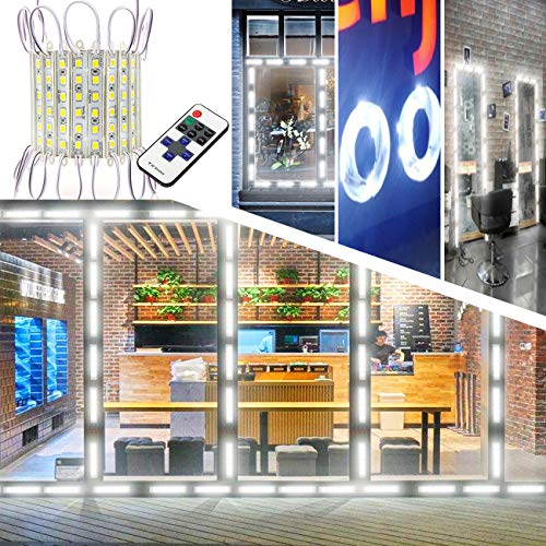 Upgraded Storefront Lights, EAGWELL 40 FT 80 Pieces Store Window LED Lights 4 Sets 5054 SMD LED Light Module Storefront Window Strip Light for Business Store Light Advertising Signs
