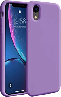 ZUSLAB Nano Silicone Case Compatible with Apple iPhone XR Shockproof Gel Rubber Bumper Protective Cover - Purple