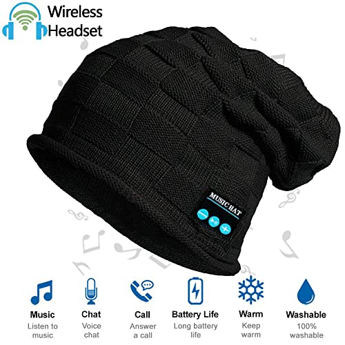 HighTechLife Upgraded Wireless Bluetooth Beanie Hat Headphones V4.2 Unique  Valentine Gifts for Girlfriend  d80d7bdafbb0