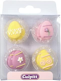 Easter Egg Sugar Pipings - 12 Pack