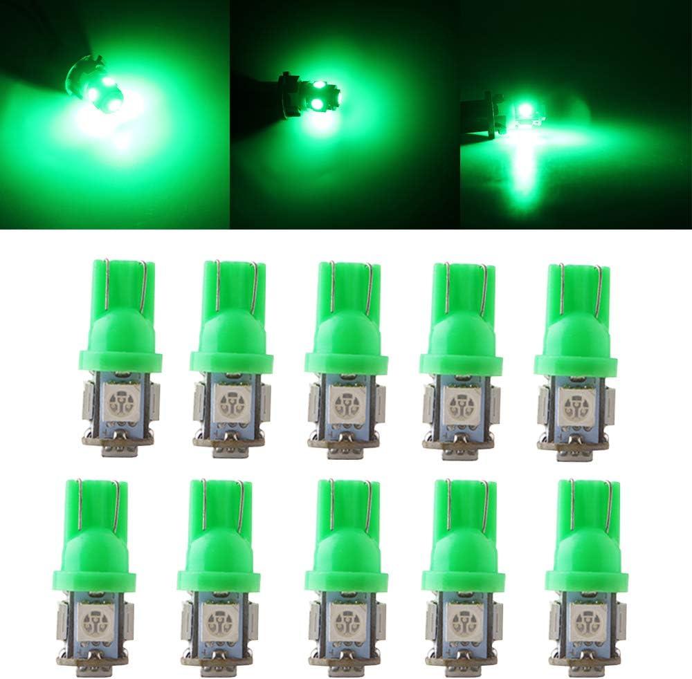 QasimLed Green 24V T10 5050 latest 5SMD 194 W5W Price reduction Inte 60LM Car LED Bulbs