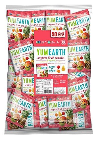 YumEarth Organic Tropical Fruit Snacks, 50 snack packs