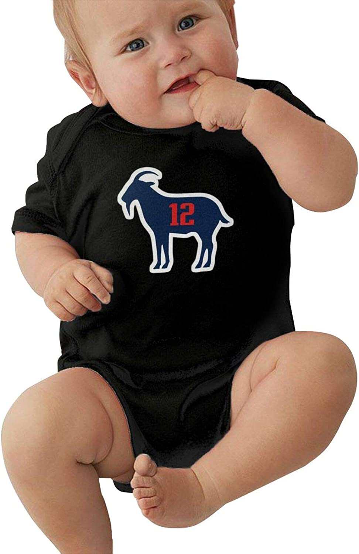 Amazon.com: Brady TB12 Goat Soft One-Piece Short Sleeves Baby Boys ...