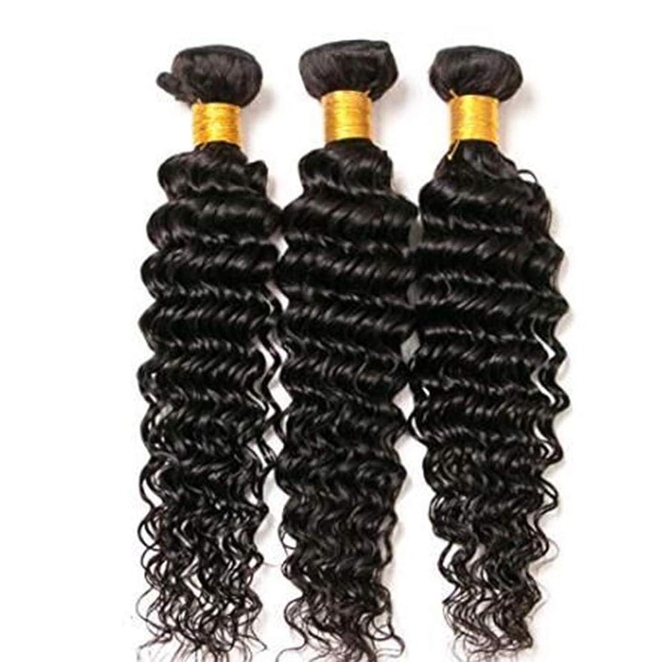 起きる取り付け余暇BOBIDYEE 女性のためのブラジルのディープウェーブヘアバンドル100%未処理の人間の毛髪延長ナチュラルルッキング(8