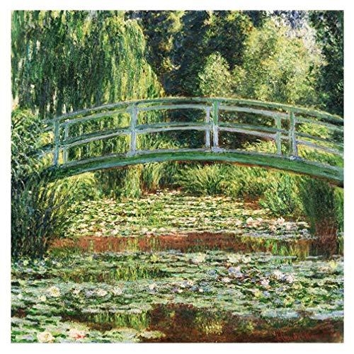 Legendarte Cuadro Lienzo, Impresion Digital - El Puente Japones Claude Monet, cm. 90x90 - Decoracion Pared