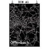 Mr. & Mrs. Panda Poster DIN A1 Stadt Offenbach Stadt Black