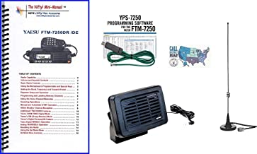 Yaesu FTM-7250DR Accy Bundle - 5 Items - Includes RT Systems Programming Kit, Nifty! Mini-Manual, Comet Dual Band Mag-Mount Antenna, Yaesu External Speaker and Ham Guides TM Quick Reference Card