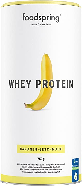 Proteine foodspring gusto banana a base di latte di alta qualità 750g B07DHQ4C5N