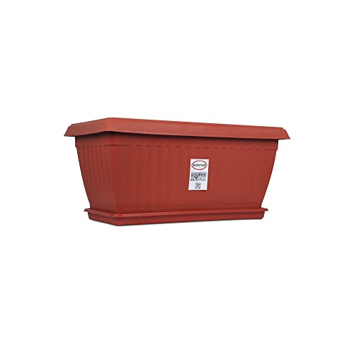 Pepper Agro Royal Planter 26 Inch with Tray Terracotta (Set of 9qty)