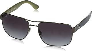 Men's RB3528 Square Metal Sunglasses