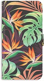 スマホケース 手帳型 ミラータイプ Galaxy S5 SC-04F・SCL23 対応 [トロピカル風・熱帯植物] 花柄 フラワー ネイティブ柄 ボタニカル SAMSUNG サムスン ギャラクシー エスファイブ docomo au スタンド ス...