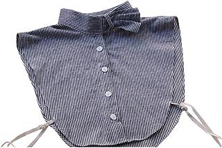 Ainial 付け襟 立て襟 デニムブルー つけ襟 レディース フリル おしゃれ 個性的 インナー襟 シャツ ブラウス 重ね着 フェイク襟 通勤 通学 フォーマル カジュアル 偽襟 つけえり つけ衿