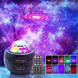 LED Night Light Projector, 3 in 1 LED Galaxy Starry Light Projector for Bedroom, Ocean Wave Projector Light Decorative Galaxy Light Sky Star Lite with Sound Activated for Kids, Adults, Holidays