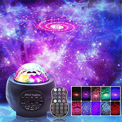 LED Night Light Projector, 3 in 1 LED Galaxy Starry Light Projector for...