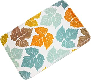 Bath Rugs,Washable and Absorbent Soft Floor Mat,Non-Slip Bathroom Rug,Non-Skid Bath Mat,23.5×21 Inch,Maple Leaf