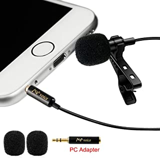 PoP Voice Professional #1 Best Lavalier Lapel Microphone...