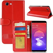 Mobile Phone Cases & Covers, Crazy Horse Texture Horizontal Flip Leather Case for OPPO Realme 1 & F7 Youth A73S, with Wallet & Holder & Card Slots (Color : Red)