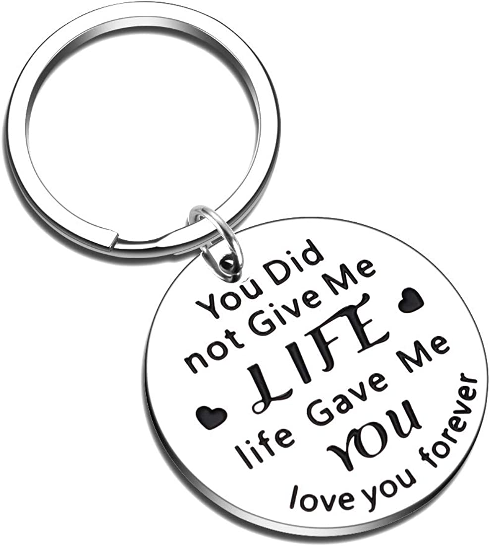 Parents Day Stepdad Gifts from Gorgeous Courier shipping free shipping Keychain Son Daughter Fathers