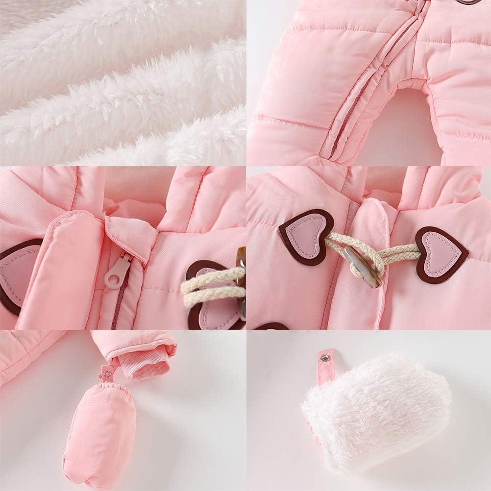 Schneeanzug Jumpsuit Kid Boy Girl Skianzug Kids Coat Kapuzen-Schneeanzug Winter Outfit Outwear Kleidung Baby 0-18 Monate Fovely Neugeborener Jumpsuit