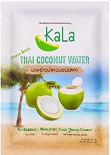 KaLa 100% Freeze Dried Coconut Water, No Additives, Made from Fresh Young Coconut, Product of Thailand, 1 O...