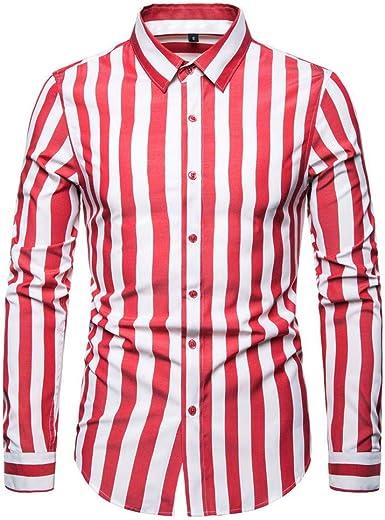 NiTuoZe - Camiseta de Manga Larga para Hombre con Estampado ...