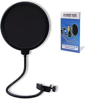 ポップガード マイク ポップガード ポップガード マイク ノイズを防ぐ マイク用 2重張り 直径15.5 cm 360度の柔軟性 マイクフィルター 録音 歌うために 放送