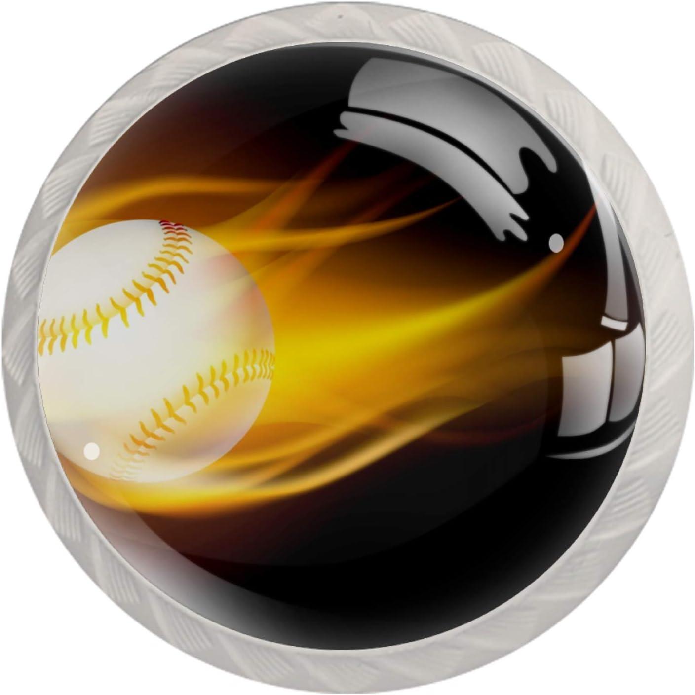 Idealiy Baseball Fire Door Drawer Decorati Handle Pull Furniture New sales latest