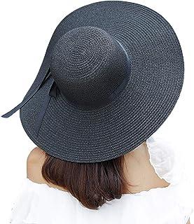 قبعة عريضة الحواف من القش للحماية من الشمس للنساء، قبعة مرنة مرنة قابلة للطي، قبعة شاطئ صيفية واقية من الأشعة فوق البنفسجية