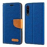 Xiaomi Mi 9 SE Case, Oxford Leather Wallet Case with Soft