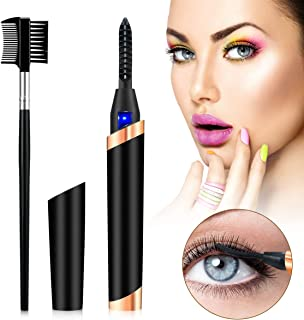 Heated Eyelash Curler - Rechargeable Electric Eyelash Curler for Long Lasting Make Eyelashes Curl More Attractive and Noticeable