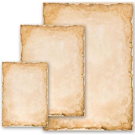 Papier à motif Vieux Papier Histoire VINTAGE 50 feuilles DIN A4 - Paper-Media