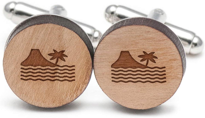1af9c8e2e Paradise Beach Beach Beach Cufflinks, Wood Cufflinks Hand Made in the USA  6d91ff