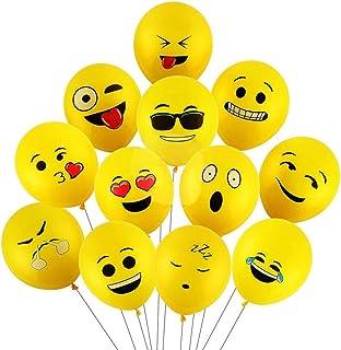 Party Propz 25 Pcs Emoji Balloons for emoji theme decoration / emoji balloon / emoji party