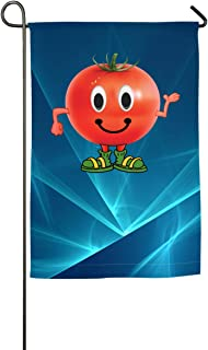 FOOOKL Happy Tomato Home Family Party Flag Hipster Welcomes The Banner Garden Flags