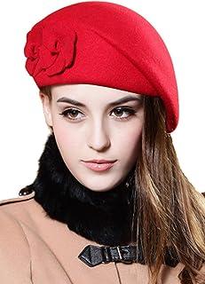 Suvimuga Las Mujeres Boinas De Lana Sombrero De Tapa Vestido De Invierno Sombreros