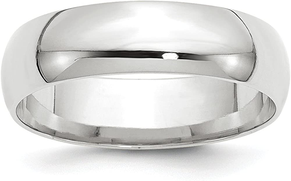Solid 10k White Gold 6mm Band favorite Comfort Fit Wedding Max 40% OFF
