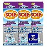 Sole Cura Lavatrice Express, Formula Potenziata 8 Azioni, 3 Confezioni da 250 ml