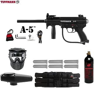 Maddog Tippmann A5 A-5 Standard Titanium Paintball Gun Package - Black