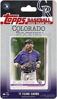 Colorado Rockies 2019 Topps Factory Sealed Special Edition 17 Card Team Set with Nolan Arenado and Trevor Story Plus