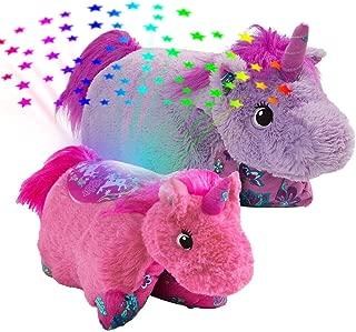Pillow Pets-Colorful Unicorn Slumber Pack - Lavender Unicorn Pillow Pet & Pink Unicorn Sleeptime Lites