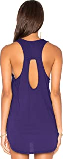 Muzniuer Women's Backless Long Tank Backless Yoga Shirts Workout Shirts Cover up Long Tank Summer Casual T Shirts