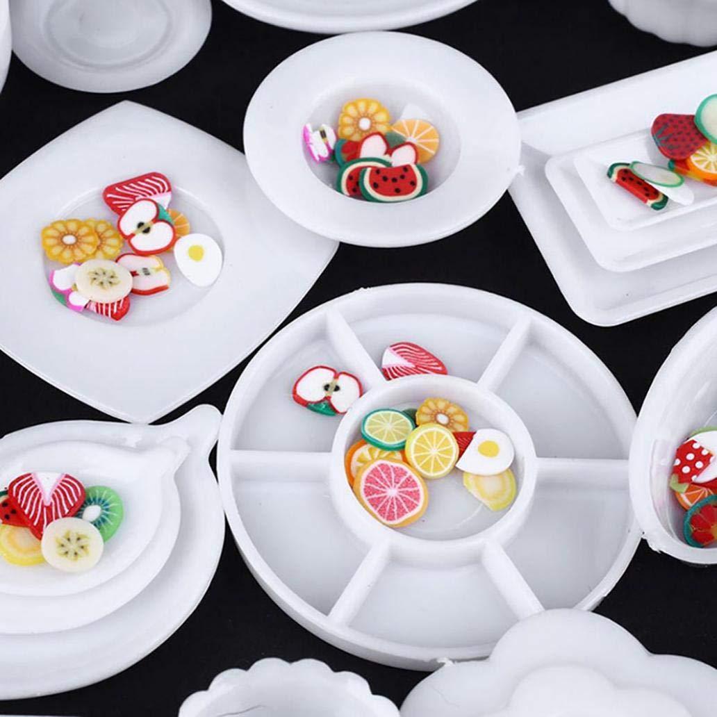 33Pcs//set Mini Dollhouse Kitchen Food Dishes Plate Model Serving Kids Toys Gift